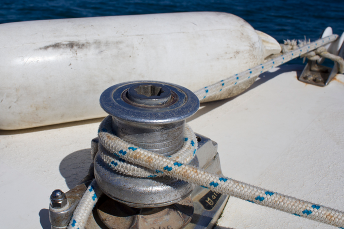 Fotografia, corda su barca